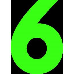 10cm Athletic Font