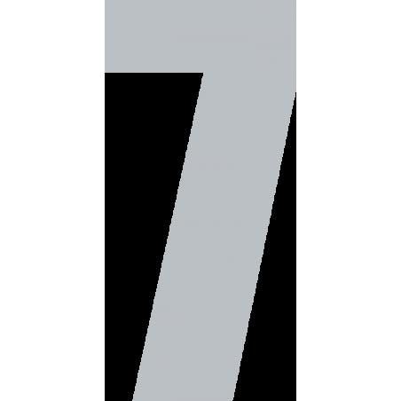 Iron Number 7.5cm Allstar Font More Colours