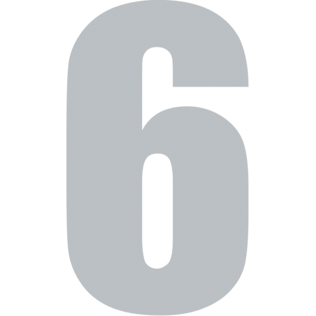 Iron Number 5cm Allstar Font More Colours