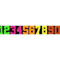 15cm Iron On Numbers
